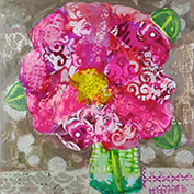 Flower from Miss Fluffy 24x24 Mixed Media